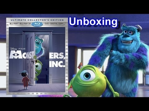 Monsters Inc 3D Blu-ray/DVD Unboxing - (2001) - Disney Pixar