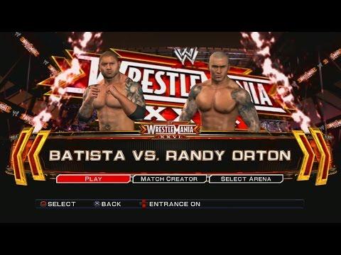 WWE Smackdown VS Raw 2011 PS3 Gameplay - Batista VS Randy Orton [60FPS][FullHD]