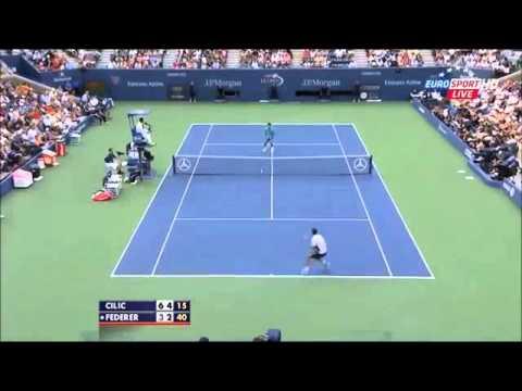 2014 US Open 1/2 Roger Federer vs Marin Cilic