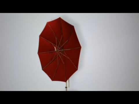 "Sonnenschirm Ampelschirm /""Madagaskar/"" 3x3m Sonnenschutz Gartenschirm Schwarz"