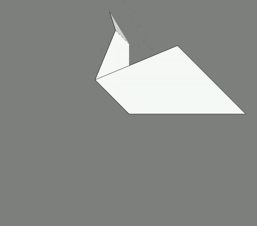 Оригами схема сборки утка
