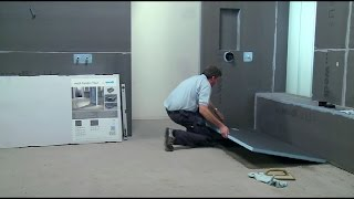 wedi | EN - Training: Installing the flush-to-floor shower Fundo Primo on concrete