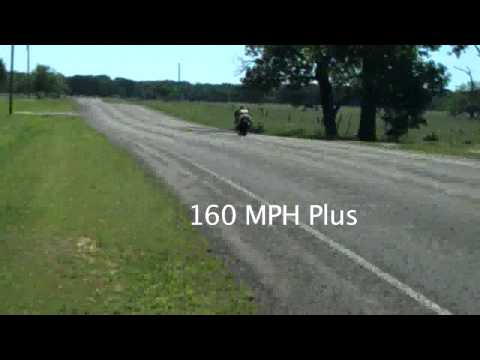 160 MPH on a superbike with no helmet, eye protection, and bald front tire!