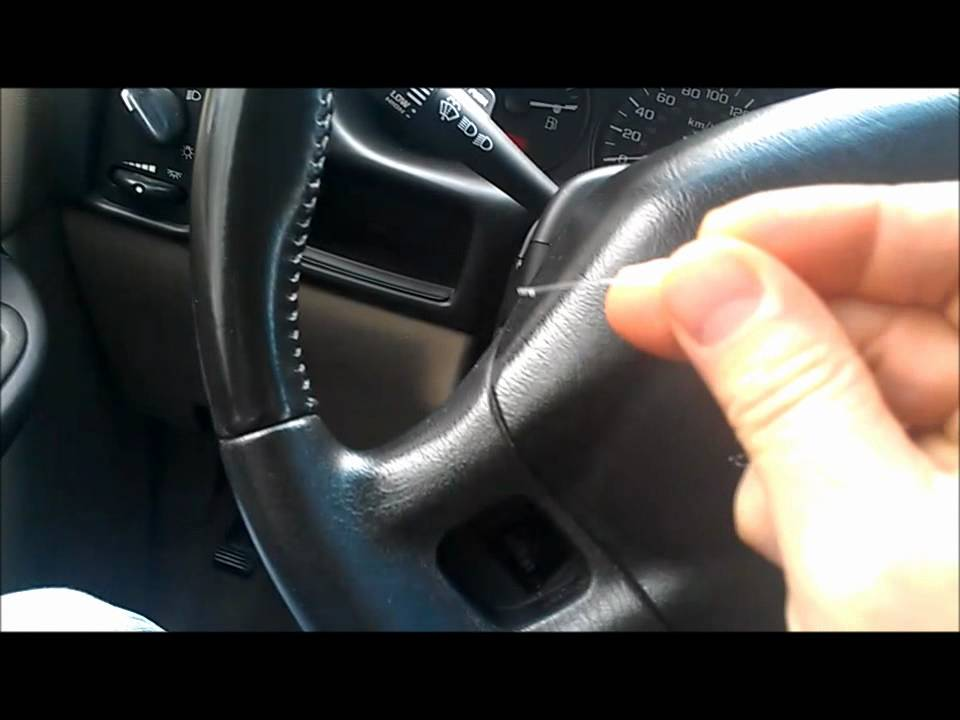 steering wheel controls remove and replace 2004 chev