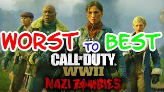 WWII ZOMBIES MAPS RANKED FROM WORST TO BEST
