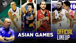 Tuloy ang Gilas Pilipinas sa Asian Games 2018   14-Man Lineup
