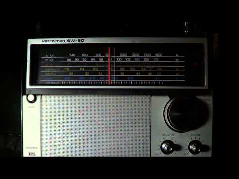 China Radio International 9570 Khz on old vintage Patrolman SW 60