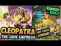 HEROES EVOLVED - CLEOPATRA BUILD | JADE EMPRESS SKIN | RANKED GAMEPLAY + MY FIRST GOLD HERO!