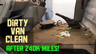 Cleaning my dirty 1/4 million mile work van