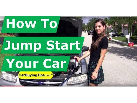 How to Jumpstart A Car Battery. Tips for Buying Auto Batteries. Jumper Cables