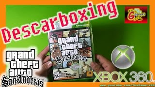 Unboxing - Grand Theft Auto San Andreas  - Xbox 360