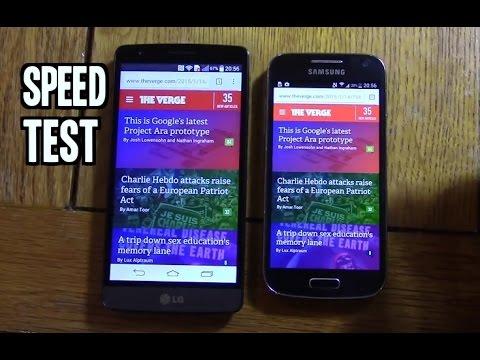 LG G3S (Beat) VS Samsung Galaxy S4 Mini - Quick Speed Test