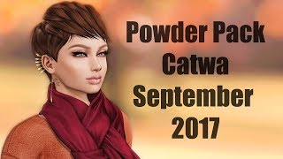 Powder Pack Catwa September 2017 - Unboxing Video - Second Life Subscription Box
