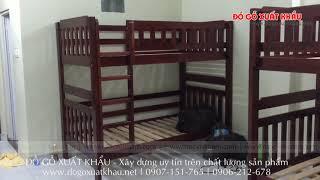 Giường ngủ tầng cho trẻ em HAPPY HOME - Đồ Gỗ Xuất Khẩu Quận 9 TP HCM