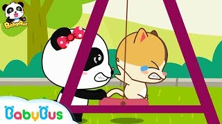 Watch out! Baby Kitten | Safety Tips While Swinging | Kids Good Manners | BabyBus