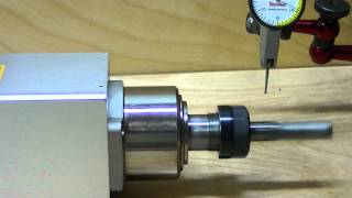 Peter's 1.5kW Air cooled Spindle motor test