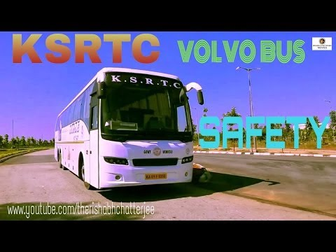 VOLVO BUS SAFETY VIDEO KSRTC AIRAVAT ,INDIA