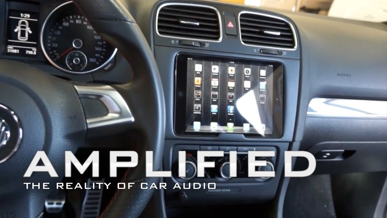 iPad mini installed into the dash of a Lexus ES400h and a VW GTI, Quick release, Float Mount, EP ...