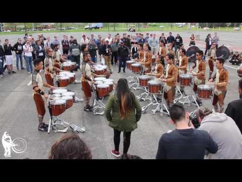 Broken City Drum Line in the Lot   WGI 2017 Finals   Steve Weiss Music
