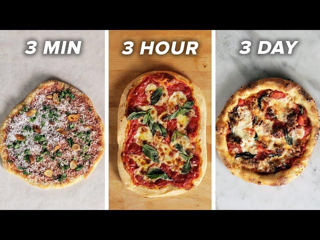 3-Minute Vs. 3-Hour Vs. 3-Day Pizza •Tasty thumbnail