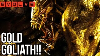 GOLD GOLIATH BREAKS HIS ARM!! Evolve Gameplay Walkthrough - Multiplayer - Part 35!! (XB1 1080p HD)