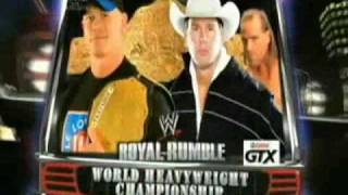 WWE Royal Rumble 2009 - Promo - Match Card