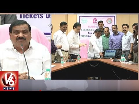 Minister Mahender Reddy Launches T Wallet Services In TSRTC | Hyderabad | V6 News