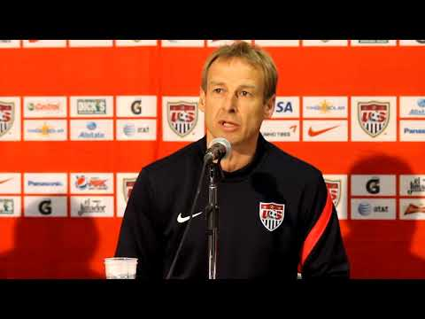 Jurgen Klinsmann, Pre Game Press Conference; Italy v USMNT, 2012