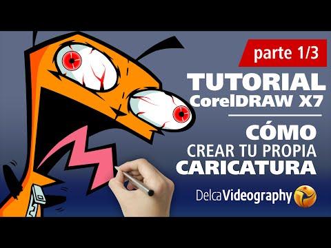 Tutorial 4 (1/3)  Curso en Español CorelDRAW: Cómo crear tu CARTOON o personaje favorito