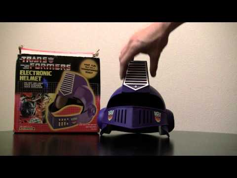 Transformers G1 Optimus Prime electronic voice changer helmet mib 1985 review