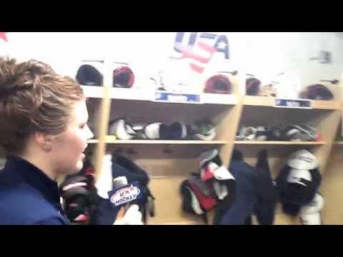 Team Usa Locker Room Tour - 2012 Iihf Women's World Championship video