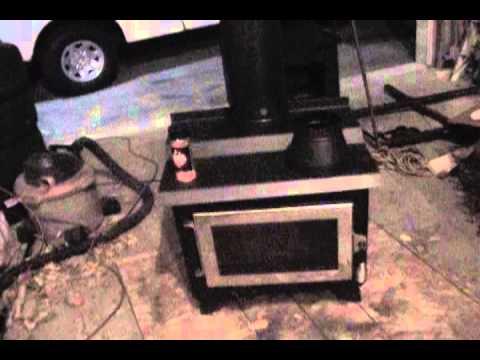 Wood burning stove pipe fan