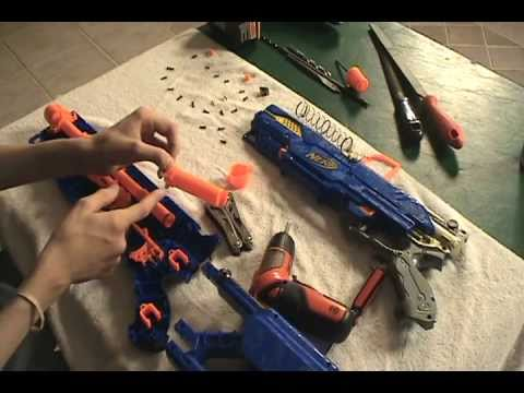 Longstrike CS-6 Modification - Nerf Socom Modifications