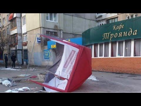 НАЧАЛОСЬ по Всей Украине Переворачивают ПАЛАТКИ ПОРОШЕНКО Агитаторов выгоняют