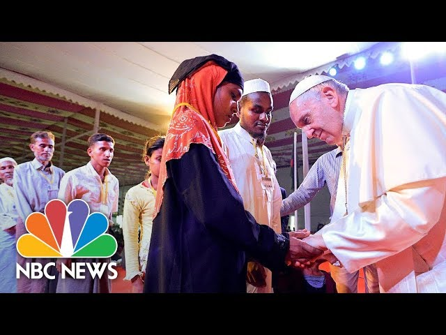 Pope Francis Uses The Word 'Rohingya' While Meeting Refugees | NBC News