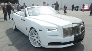 Black & White Rolls-Royce Dawn w/ Giovanna Wheels