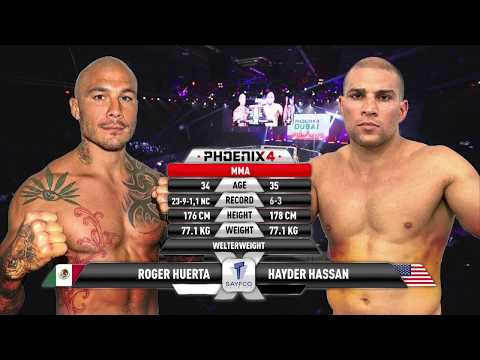 Roger Huerta vs Hayder Hassan Full Fight (MMA) | Phoenix 4 Dubai | December 22nd 2017.