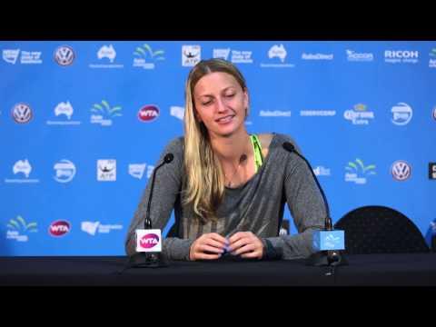 Petra Kvitova press conference (SF) - Apia International Sydney 2015