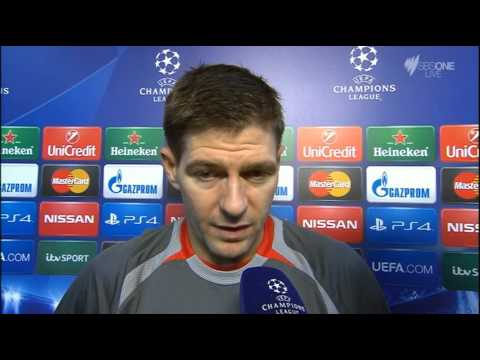 Liverpool vs FC Basel (UEFA Champions league matchday 6) Steven Gerrard post match interview