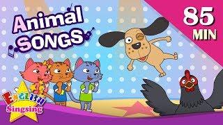 Animal Songs (Baby Shark, Five little Monkeys + More Songs) | Nursery Rhymes with lyrics