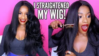 I Straightened My $20 Synthetic Wig w/ a HOT COMB! Does It Work?