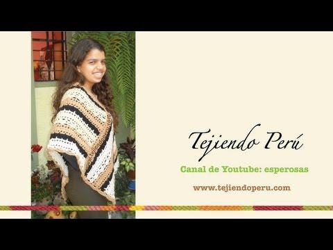 Cómo tejer un poncho a crochet con dos rectángulos