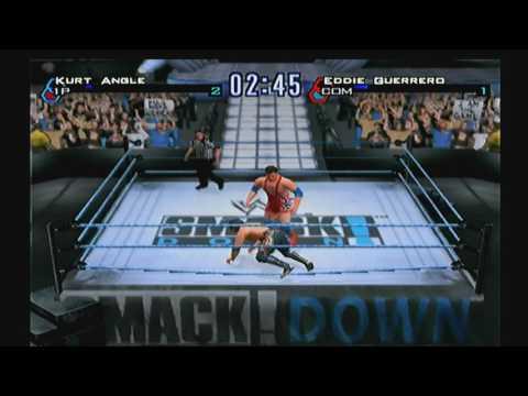 WWF SmackDown! Just Bring It PS2 2001 Kurt Angle Vs Eddie Guerrero Match thumbnail