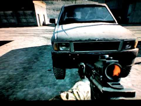 Call of Duty 4 Secret Turret! Drivable Cars!