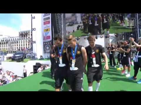 Celebración de la selección alemana en Berlin