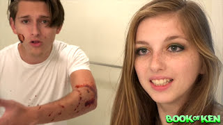 Wiping PERIOD BLOOD on BOYFRIEND Prank : Bathroom Prank Gone Wrong