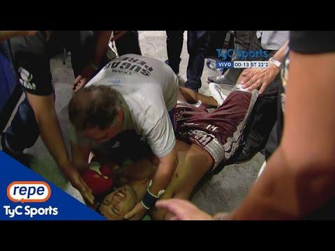 Nocaut furioso: Alan Castaño sacó a Oscar Pérez del ring a los golpes