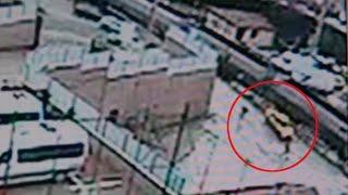 Baba katilinin polisle çatışma anları güvenlik kamerasında