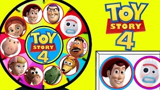 TOY STORY 4 New Spinning Wheel Game Toy Surprises New Characters