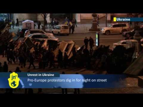 Revolution in the air in Ukraine: protesters occupy downtown Kiev amid anger over EU U-turn